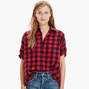 Madewell Flannel Courier Shirt S